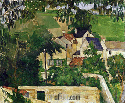Quartier Four, Auvers-sur-Oise (Landscape, Auvers), c.1873 | Cezanne | Painting Reproduction