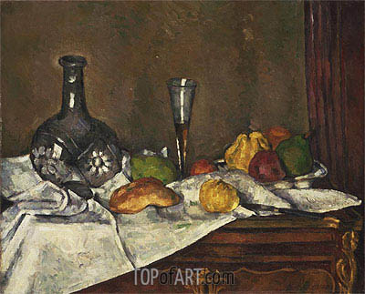 Still Life with a Dessert, c.1877/79 | Cezanne | Painting Reproduction