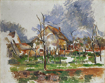 Winter Landscape, Giverny, 1894 | Cezanne | Painting Reproduction