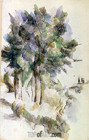 Trees, undated | Cezanne| Painting Reproduction
