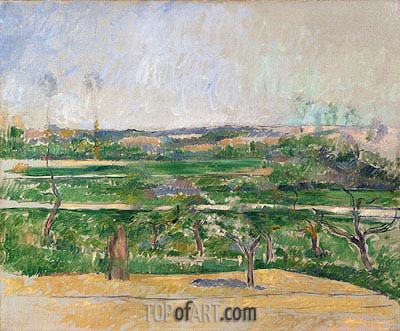 Landscape at Aix-en-Provence, c.1879 | Cezanne | Painting Reproduction