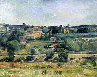 Landscape from the West of Aix-en-Provence, c.1885/88 | Cezanne| Painting Reproduction