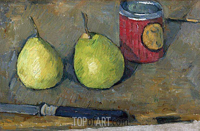 Pears and Knife, c.1877/78 | Cezanne | Painting Reproduction