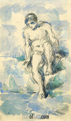 Bather, c.1885 | Cezanne | Painting Reproduction
