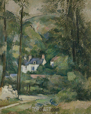 Houses in the Greenery, c.1881 | Cezanne | Gemälde Reproduktion