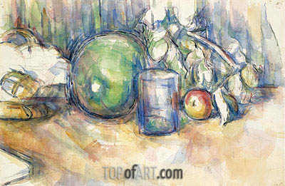 Still Life with Green Melon, c.1902/06 | Cezanne | Painting Reproduction
