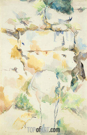 Rocks near Caves above Chateau Noir, c.1895/00 | Cezanne | Painting Reproduction