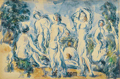 Bathers, c.1900 | Cezanne| Painting Reproduction