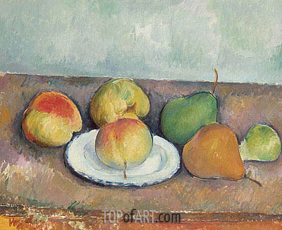 Still Life with Apples and Pears, c.1888/90 | Cezanne | Painting Reproduction