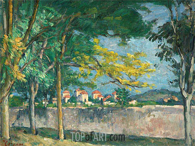 The Road, c.1875/76 | Cezanne | Painting Reproduction