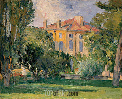 The House of the Jas de Bouffan, c.1874 | Cezanne | Painting Reproduction