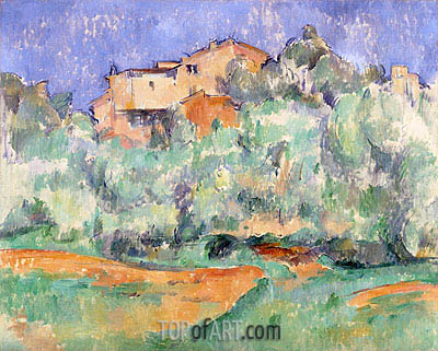 House and Dovecote at Bellevue, c.1890/92 | Cezanne | Painting Reproduction