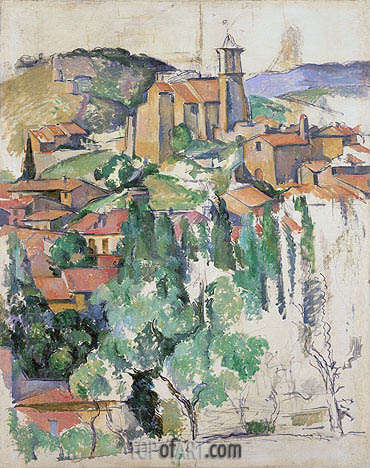 The Village at Gardanne, c.1885/86 | Cezanne | Painting Reproduction