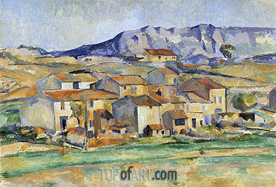 Hamlet at Payannet near Gardanne, c.1885/86 | Cezanne| Painting Reproduction