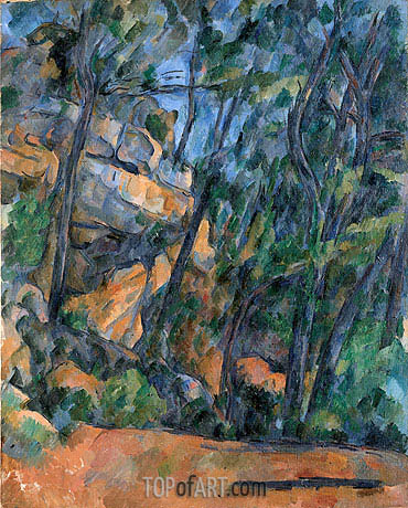 Trees and Rocks in the Park of the Chateau Noir, c.1904 | Cezanne| Painting Reproduction