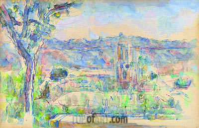 Aix Cathedral Seen from the Studio at Les Lauves, c.1904/06 | Cezanne | Painting Reproduction