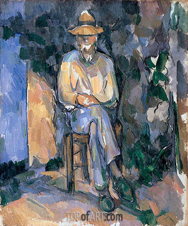 The Gardener Vallier, c.1906 | Cezanne | Painting Reproduction