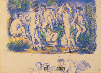 Group of Bathers, c.1900 | Cezanne| Painting Reproduction