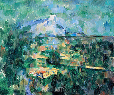 Montagne Sainte-Victoire Seen from Les Lauves, c.1904/06 | Cezanne | Painting Reproduction