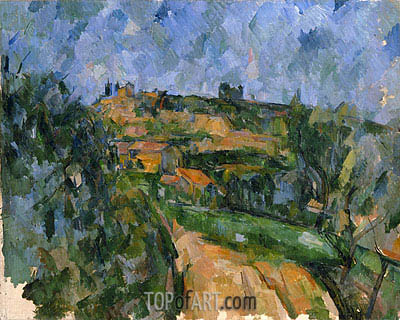 The Bend in the Road above the Chemin des Lauves, c.1904/06 | Cezanne | Painting Reproduction