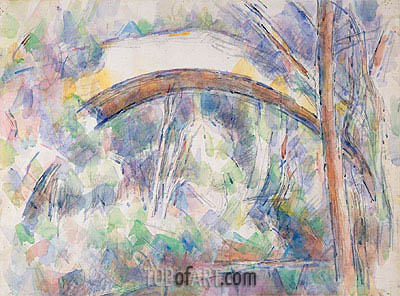 The Pont des Trois Sautets, 1906 | Cezanne | Painting Reproduction