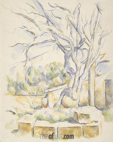 Pistachio Tree in the Courtyard of the Chateau Noir, c.1900 | Cezanne | Painting Reproduction