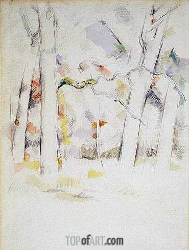 Spring Woods, c.1882/84 | Cezanne | Painting Reproduction