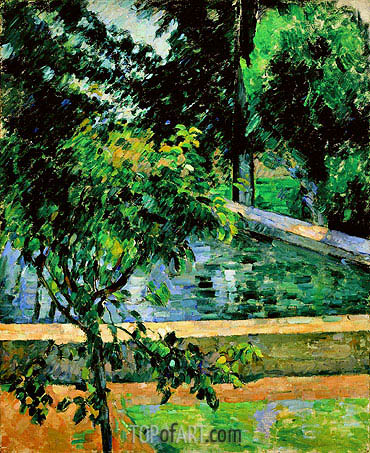 The Pool at Jas de Bouffan, c.1878/89 | Cezanne| Painting Reproduction