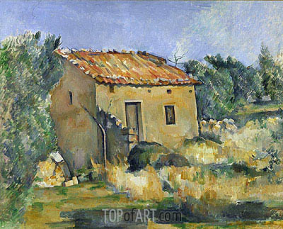 Abandoned House near Aix-en-Provence, c.1885/87 | Cezanne| Painting Reproduction