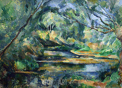 The Brook, c.1898/00 | Cezanne | Painting Reproduction