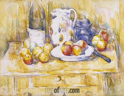 Still Life with Apples on a Sideboard, c.1900/06 | Cezanne | Painting Reproduction