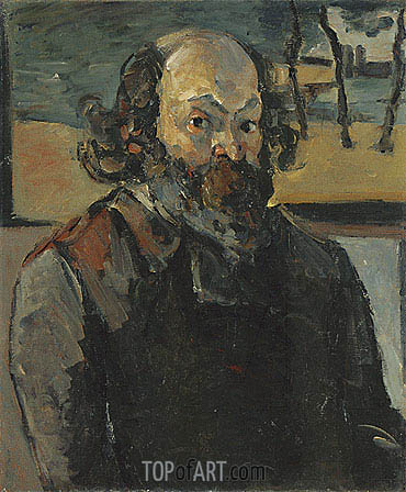 Self Portrait, c.1875 | Cezanne| Painting Reproduction