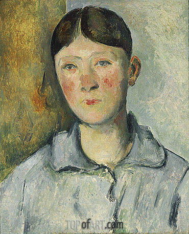 Portrait of Madame Cezanne, c.1885/90 | Cezanne| Painting Reproduction