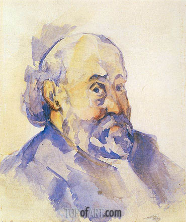 Self Portrait, c.1893 | Cezanne| Painting Reproduction