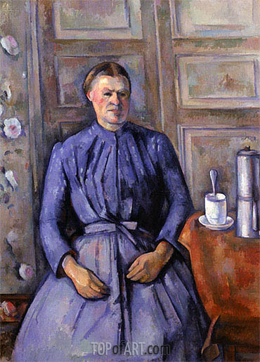 Woman with a Coffee Pot, c.1890/95 | Cezanne| Gemälde Reproduktion