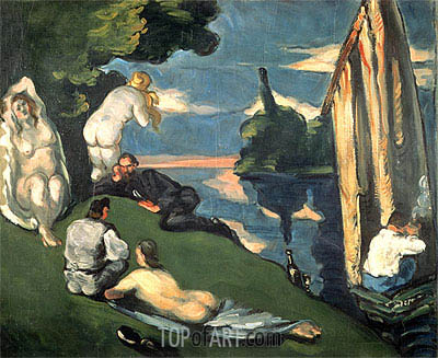 Pastoral or Idyll, c.1870 | Cezanne| Painting Reproduction