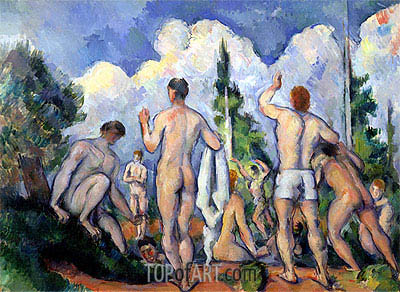The Bathers, c.1890/92 | Cezanne | Painting Reproduction