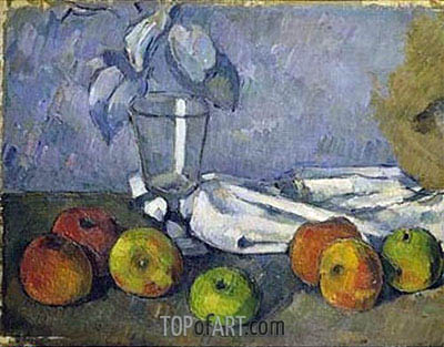 Still Life with Glass and Apples, c.1879/82 | Cezanne | Painting Reproduction