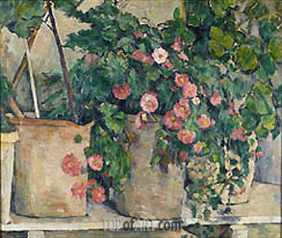 Still Life with Petunia, c.1879/82 | Cezanne | Gemälde Reproduktion