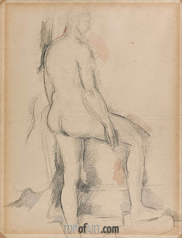 Study of a Nude Figure, c.1885 | Cezanne | Painting Reproduction