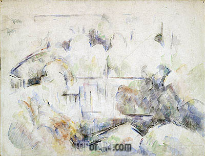 House Among Trees, c.1890 | Cezanne | Painting Reproduction