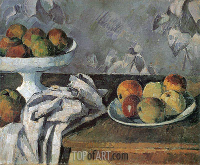 Still Life with Compotier, c.1879/80 | Cezanne | Painting Reproduction