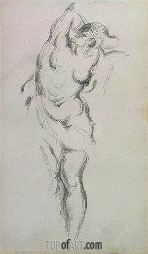 Allegorical Figure of War, c.1885/90 | Cezanne| Gemälde Reproduktion