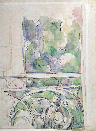 The Balcony, c.1890/00 | Cezanne| Painting Reproduction