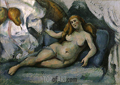 Reclining Nude, c.1886/90  | Cezanne | Gemälde Reproduktion