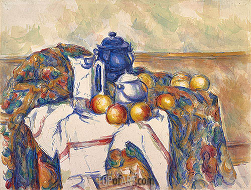 Still Life with Blue Pot, c.1900 | Cezanne | Painting Reproduction