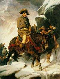 Napoleon Crossing the Alps | Paul Delaroche | Painting Reproduction