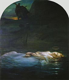 The Young Martyr | Paul Delaroche | Painting Reproduction