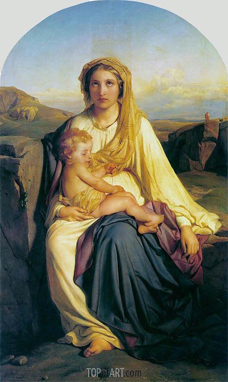Virgin and Child, 1844 | Paul Delaroche | Gemälde Reproduktion