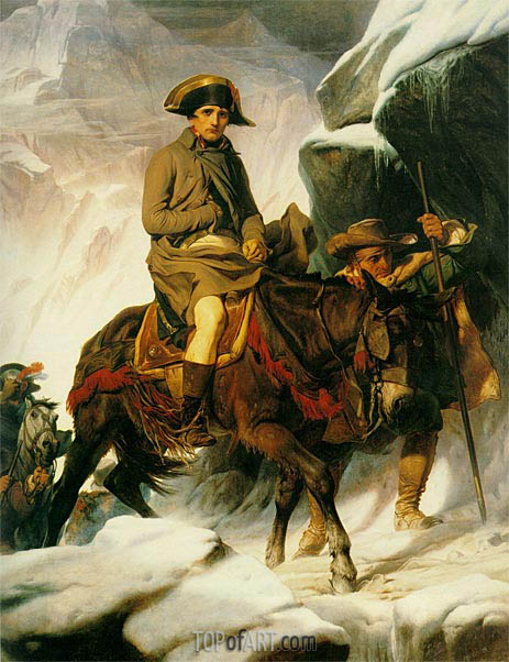 Napoleon Crossing the Alps, 1850 | Paul Delaroche | Painting Reproduction